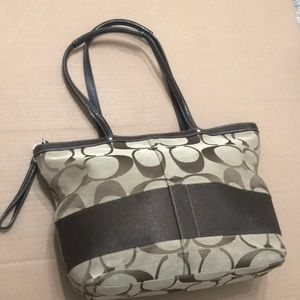 Coach purse brown color